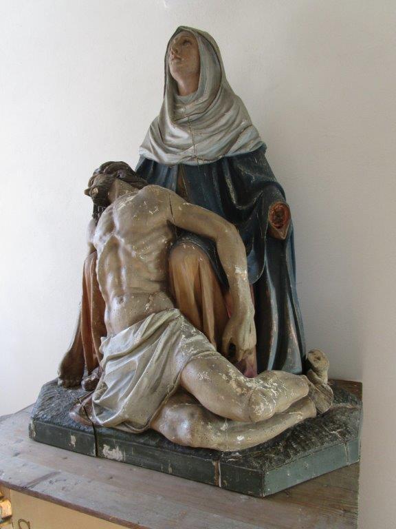 Restaurování – sakrální plastiky Piety z kostela Sv. Kateřiny u Chotěvic